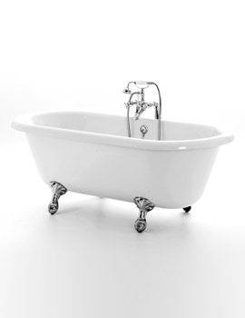 Windsor Double Ended Bath 1670 x 750mm With Chrome Feet