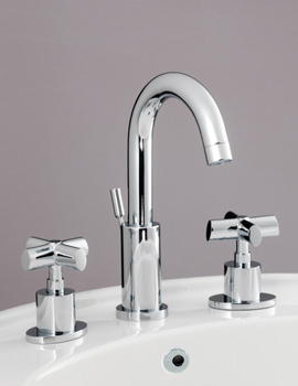 Highgrove 3 Hole Basin Mixer Tap With Pop-Up Waste - JBRHIG102