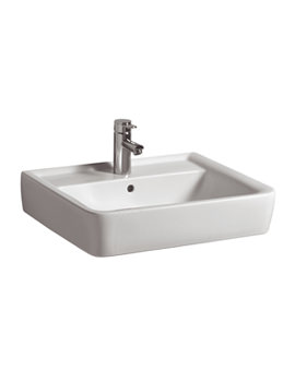 Twyford Galerie Plan Wall Fixing Washbasin 500 x 380mm - GL4811WH