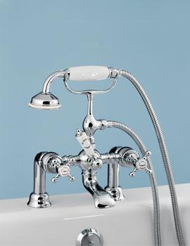 Related Silverdale Victorian Bath Shower Mixer Bridge - VCTBTBSDCHR
