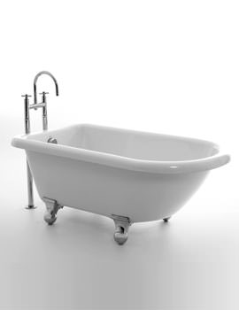 Orlando Single Ended Bath 1380 x 750mm With Feet