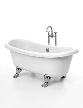 Royce Morgan Notre Double End Bath 1650 x 695mm With Chrome Feet