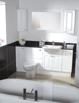 Image of Balterley White Classic 700mm Cistern Base Cabinet With Legs