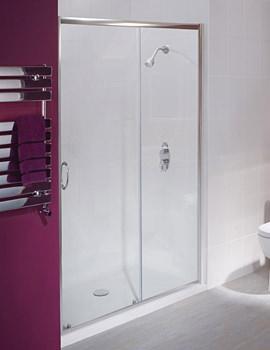 Balterley Framed Sliding Shower Door 1200mm - BYSEFSL12