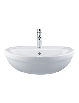 Balterley Style Uno 1 Tap Hole 580mm Semi Recessed Basin