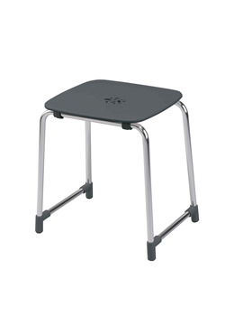 Balterley Black Floor Standing Shower Stool - BY-SHSEFSBL