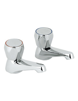 Twyford Option One And Half Inch Basin Pillar Taps - OT5205CP