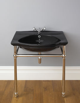 Silverdale Damea 650mm Basin And Traditional Stand Chrome - DATRASTNDCHR