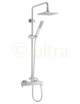Quadro Thermostatic Bar Shower Valve With Telescopic Kit 2