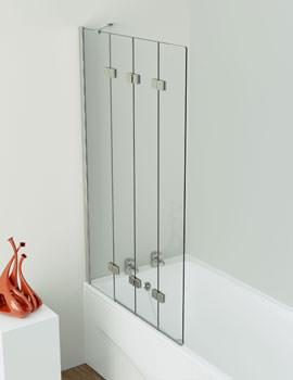 Inspirational 4 Panel Compact Bath Screen