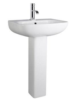 Lauren Saxon 545mm 1 Tap Hole Ceramic Basin And Full Pedestal