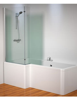 Kudos Inspirational 1500x808mm L Shaped Bath Screen