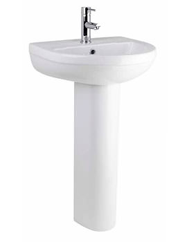 Lauren Ivo 500mm 1 Tap Hole Ceramic Basin And Full Pedestal