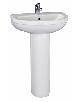 Related Lauren Ivo 550mm 1 Tap Hole Basin And Full Pedestal