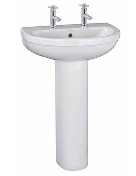 Related Lauren Ivo 550mm 2 Tap Hole Basin And Full Pedestal