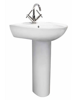 Lauren Melbourne 550mm 1 Tap Hole Basin And Full Pedestal