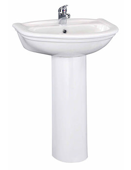 Lauren Barmby 600mm 1 Tap Hole Ceramic Basin And Full Pedestal