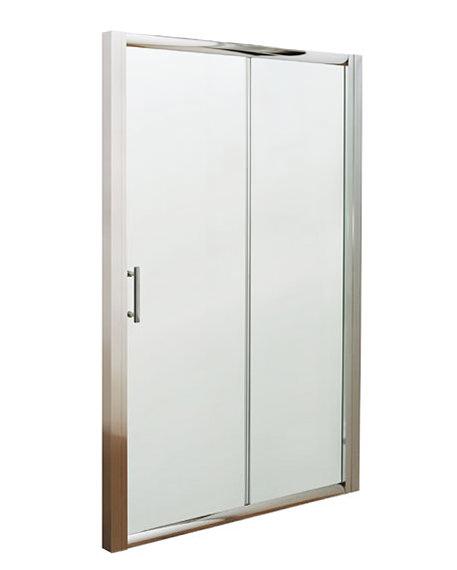 Lauren pacific sliding shower door 1100 x 1850mm aqsl11 for 1700 high shower door