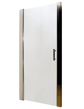 Lauren Pacific Hinged Shower Door 760 x 1850mm - AQHD76