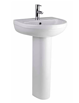 Lauren Harmony 500mm 1 Tap Hole Basin And Pedestal