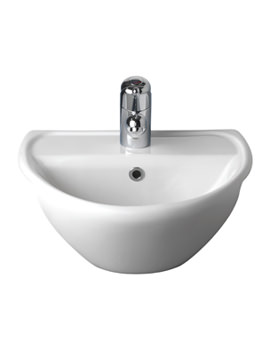 Sola Optimise Semi Recessed Basin 450 x 380mm - SA4621WH