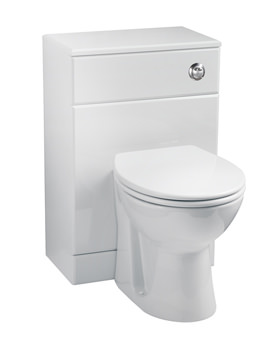 Balterley Gloss White WC Unit Including Concealed Cistern 500 x 300mm