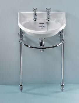 Silverdale Victorian Cloakroom Basin Heated Towel Rail Chrome