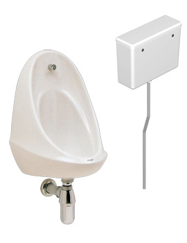 Camden 1 Urinal Set With Concealed Flush Pipe And Cistern