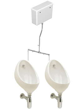 Twyford Clifton 2 Urinal Set With Concealed Flush Pipe And Cistern