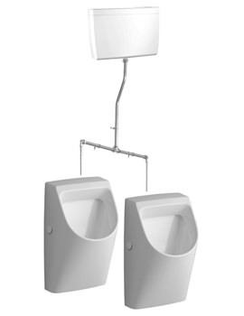 Twyford Galerie Plan 2 Urinal Set With Concealed Flushpipe And Cistern