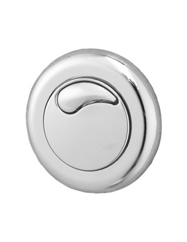 Dual Flush Small Air Button Chrome For 3-40mm Panel Depth