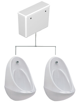 Spectrum 2 Urinal Set With Concealed FlushPipe And Cistern