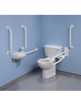 Twyford Doc.M Standard Value Pack With White Grab Rails And Seat