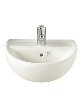 Sola 1 Tap Hole Washbasin 500 x 400mm - SA4211WH