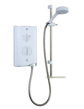 Sport Thermostatic Electric Shower 9KW White And Chrome 1.1746.005