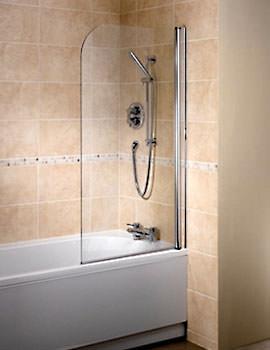 Bristan Java 1 Panel Bath screen 6mm Glass - J BS1R S