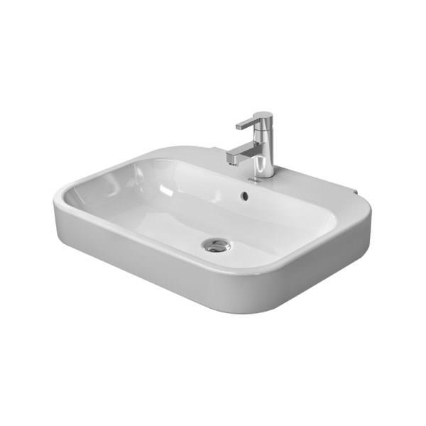duravit happy d2 single tap hole 600 x 475mm basin 2316600000. Black Bedroom Furniture Sets. Home Design Ideas