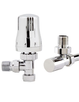 Thermostatic Angled Radiator Valve And Plain Valve - VA009