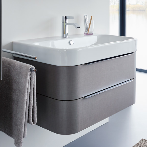 Duravit Happy D2 975mm Wall Mounted White Vanity Unit With