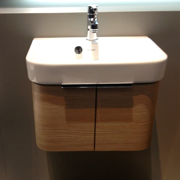 Image Of Duravit Happy D Wall Mounted White Vanity Unit With Basin
