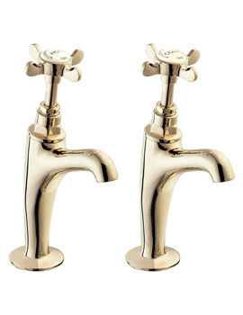 Coronation Half Inch BS1010 High Neck Sink Taps Gold