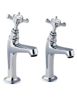 Coronation Half Inch High Neck Sink Taps Chrome - CR27A