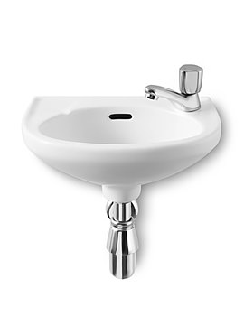 Laura Cloakroom Basin With 1 Tap Hole 350mm Wide - 325316005