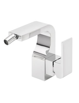 Rubik Mono Bidet Mixer Tap With Pop Up Waste Chrome