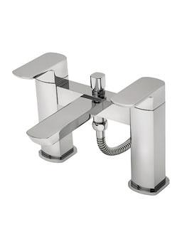 Tre Mercati Vamp Pillar Mounted Bath Shower Mixer Tap With Shower Kit