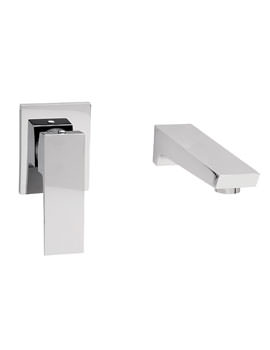 Wilde 2 Hole Wall Mounted Basin Mixer Tap Chrome - 47095