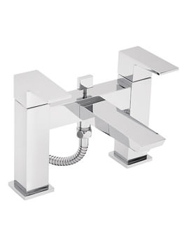 Wilde Pillar Mounted Bath Shower Mixer Tap With Kit