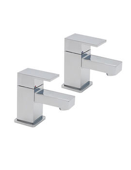 Edge Pair Of Basin Tap Chrome - 22310