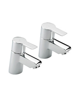Angle Pair Of Basin Tap Chrome - 22110