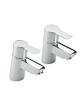 Angle Pair Of Bath Tap Chrome - 22120